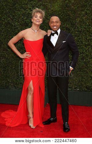 LOS ANGELES - JAN 15:  Jasmine Sanders, Terrence J at the 49th NAACP Image Awards - Arrivals at Pasadena Civic Center on January 15, 2018 in Pasadena, CA
