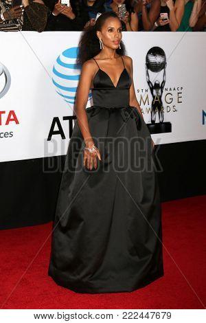 LOS ANGELES - JAN 15:  Kerry Washington at the 49th NAACP Image Awards - Arrivals at Pasadena Civic Center on January 15, 2018 in Pasadena, CA