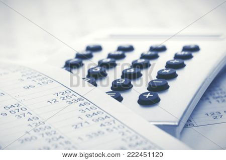 Financial accounting calculator on balance sheets