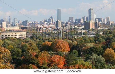 Boston City In The Fall