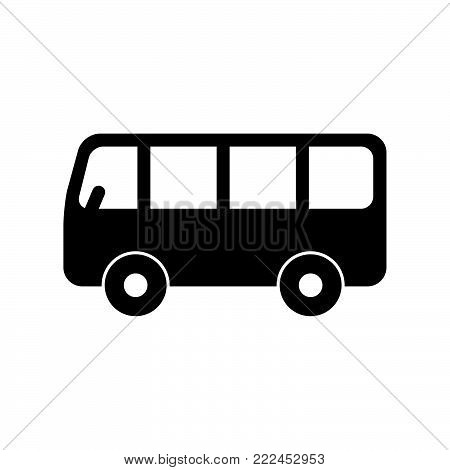Bus icon isolated on white background. Bus icon modern symbol for graphic and web design. Bus icon simple sign for logo, web, app, UI. Bus icon flat vector illustration, EPS10.