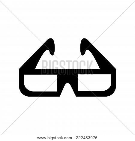3D glasses icon isolated on white background. 3D glasses icon modern symbol for graphic and web design. 3D glasses icon simple sign for logo, web, app, UI. 3D glasses icon flat vector illustration, EPS10.
