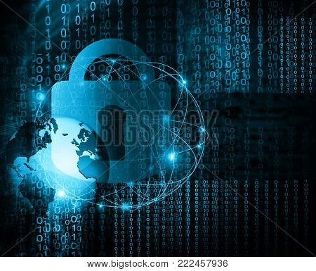 Best Internet Concept of global business.Technological background. Abstract security digital technology background
