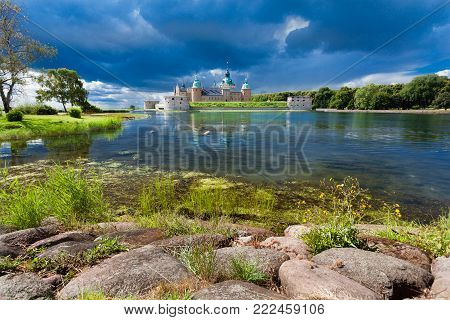 Historical building. Kalmar castle in Sweden Scandinavia Europe. Landmark and tourism. poster