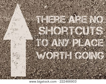 Quote on shortcuts, written on the road
