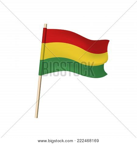 Benin Vector Flag (red, Yellow And Green Stripes)