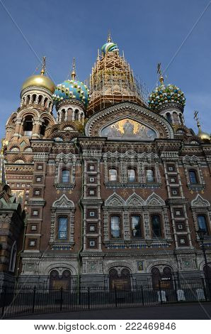 A view of the church of the saviour of spilled blood
