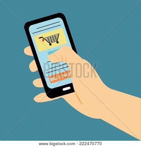 Buy Ticket On-line Smart Phone Application Globe World Map Travel Vacation Trip Booking Air Plane Flight Flat Vector Illustration