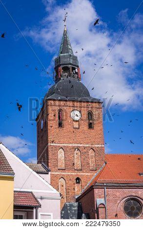 St John the Baptist Church in Biskupiec town in Masurian Lake District of Poland