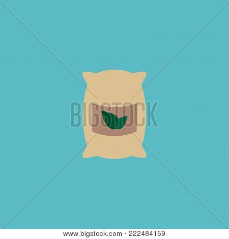 Icon flat grown bags element. Vector illustration of icon flat sack isolated on clean background. Can be used as grown, bags and sack symbols.