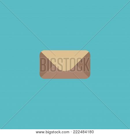 Icon flat mail element. Vector illustration of icon flat letter isolated on clean background. Can be used as mail, letter and envelope symbols.