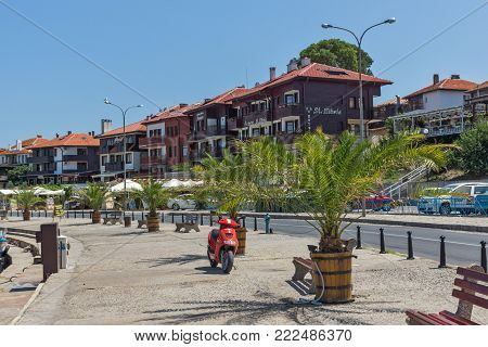 NESSEBAR, BULGARIA - 30 JULY 2014: Street in old town of Nessebar, Burgas Region, Bulgaria