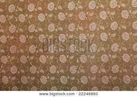 floral handmade art paper