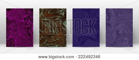 Abstract Cover. Modern Design Template. Admirable Suminagashi Marble. Minimalistic Hipster Flyer Des