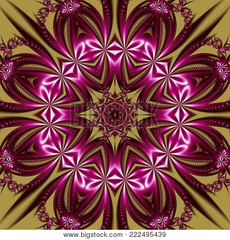 Beautiful background with floral circle ornament. You can use it for invitations, notebook covers, phone cases, postcards, cards, ceramics, carpets. Artwork for creative design and art.