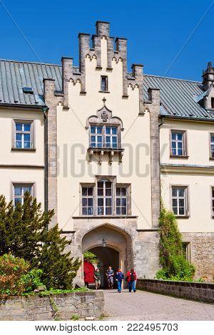 CZECH REPUBLIC, HRUBA SKALA -  MAY 20, 2015:  renaissance castle Hruba Skala, region Czech Paradise, Czech republic. Famous cultural landmark and hotel.