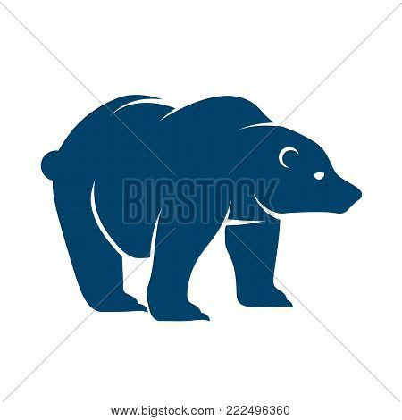 Stylized graphic polar bear logo templates. Collection of creative polar bear logotype templates growth development power concept. Vector illustration isolated on white background.