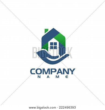 logo and button for real estate agent or company