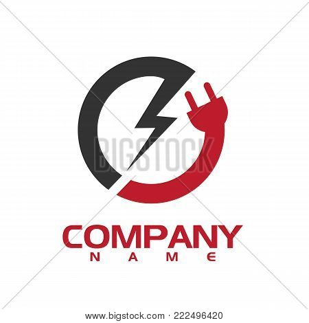 Electronic technology - vector logo concept illustration. Lightning logo. Electricity power logo. Vector logo template. Design element