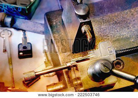 Key Copying Machine With Key