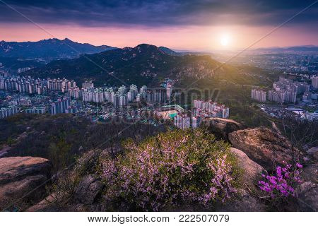 Seoul City And Downtown Skyline , South Korea.