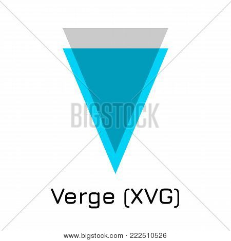 Vector illustration crypto coin icon on isolated white background Verge (XVG). Name of the crypto currency and the short trade name on the exchange. Digital currency