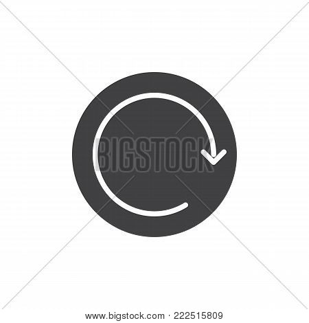 Refresh button icon vector, filled flat sign, solid pictogram isolated on white. Reboot, reset symbol, logo illustration. poster