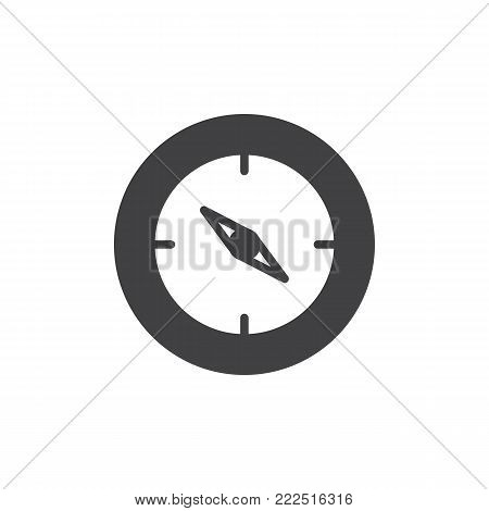 Compass icon vector, filled flat sign, solid pictogram isolated on white. Navigation symbol, logo illustration.