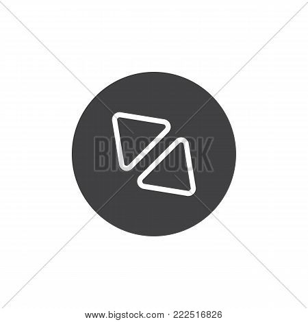 Diagonal enlarge button icon vector, filled flat sign, solid pictogram isolated on white. Symbol, logo illustration.