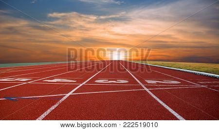 Athlete Track or Running Track and Running track