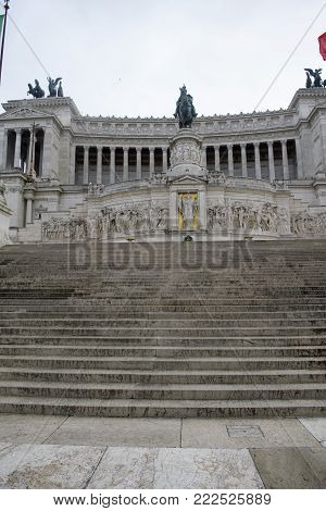 Vittoriano complex or monument  at  the Unknown Warrior in Rome