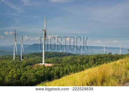 Wind Turbine Power Generator In Windpower Field