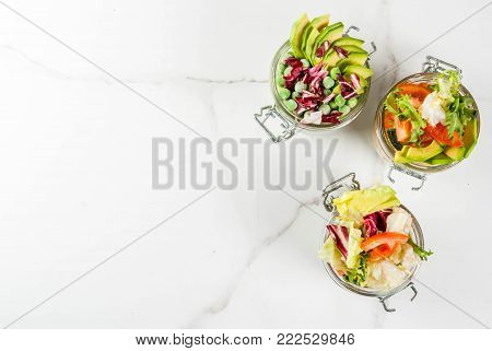 Fresh Salads In Jar