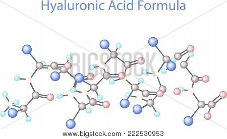 Vector infographics scientific background. Hyaluronic Acid Research illustration