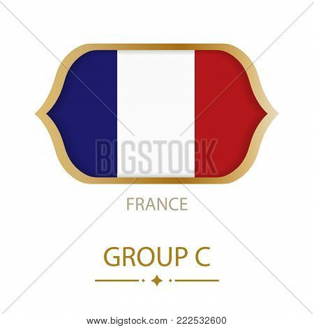 The flag of France is made in the style of the Football World Cup