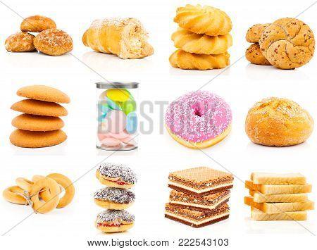 sweet baking set isolated on white background