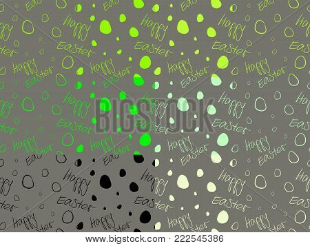 Happy Easter - Set of 12 seamless and tileable background patterns. Black, green, lime and greenish cream on dark grey.