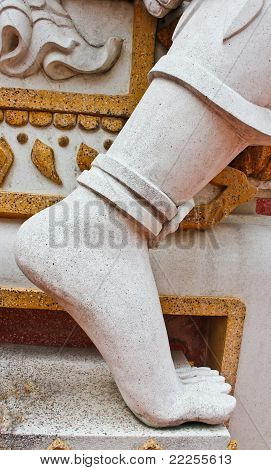 White Graven Image Of Foot
