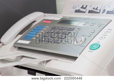the fax machine in the office at Bangkok of Thailand