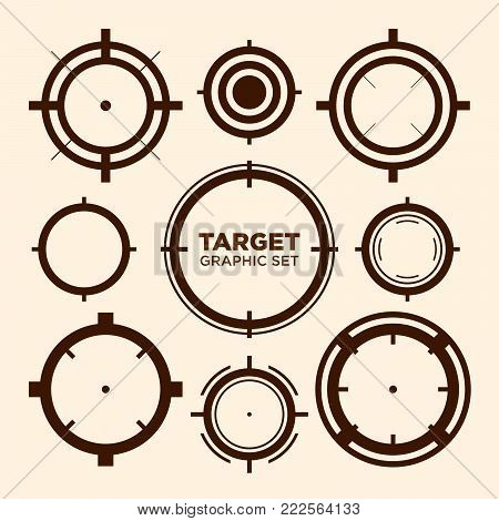 Crosshair Target Graphic Icon Vector Graphic Design Set