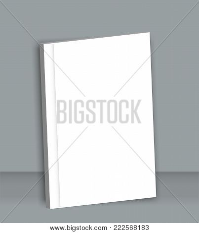 Poster Blank brochure mockup cover template. Isolated