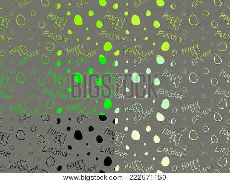 Happy Easter - Set of 12 seamless tileable pattern textures. Vector based background tiles, black, green, lime and cream on dark grey.