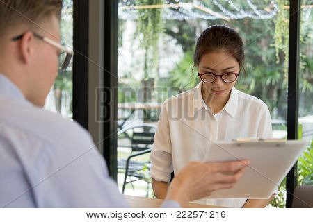 Furious Boss Scolding Frustrated Woman At Office. Irritated Man Blames Intern For Failure At Workpla