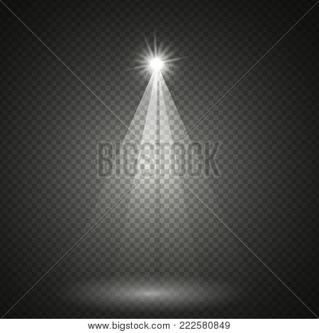 Transparent Lighting Effect. Illustration of Vector Lens Flare Effect.Transparent Vector Glow Lens Flare Ray Effect. Vector EPS10 Bright Sun Flare Explosion Template.