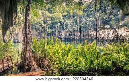 Cenote of Santo Domingo in Dominican Republic