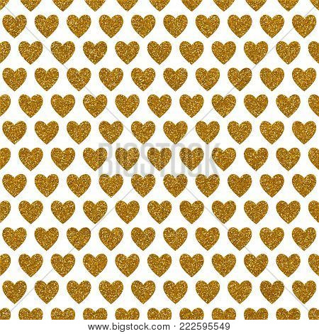A digitally created metallic love heart glitter starry background design.