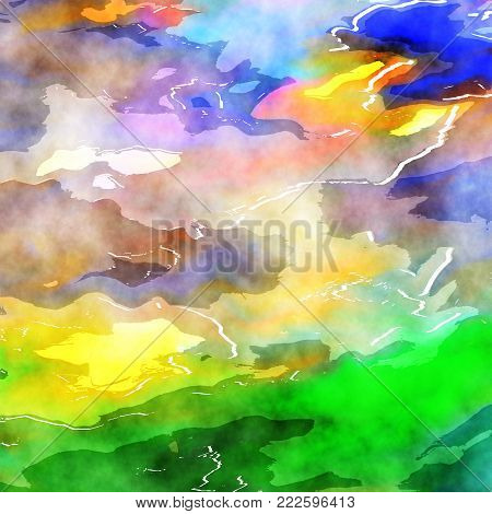 A digitally created abstract watercolor wash texture.