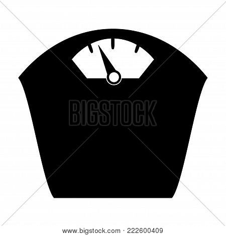 Vector scales Icon, time and money, isolated on white bacground.