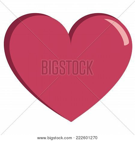 cute heart colorful isolated On White Background