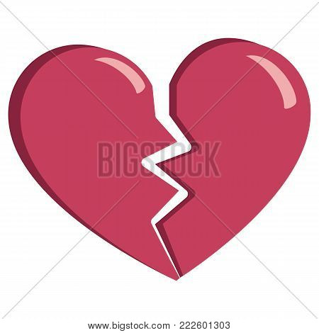 cute broken heart colorful isolated On White Background